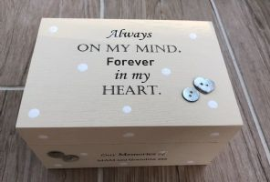Personalised In Memory Of Box Loved One ~ NAN ~ MUM any Name Bereavement Loss